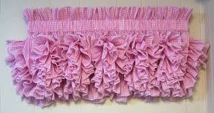 Pink Ruffle Curtain Topper by Delores U0027 Ruffled Country Style Curtains