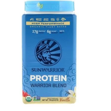 Sunwarrior Protein Warrior Blend - Vanilla - 750 GM | Dietary Supplement