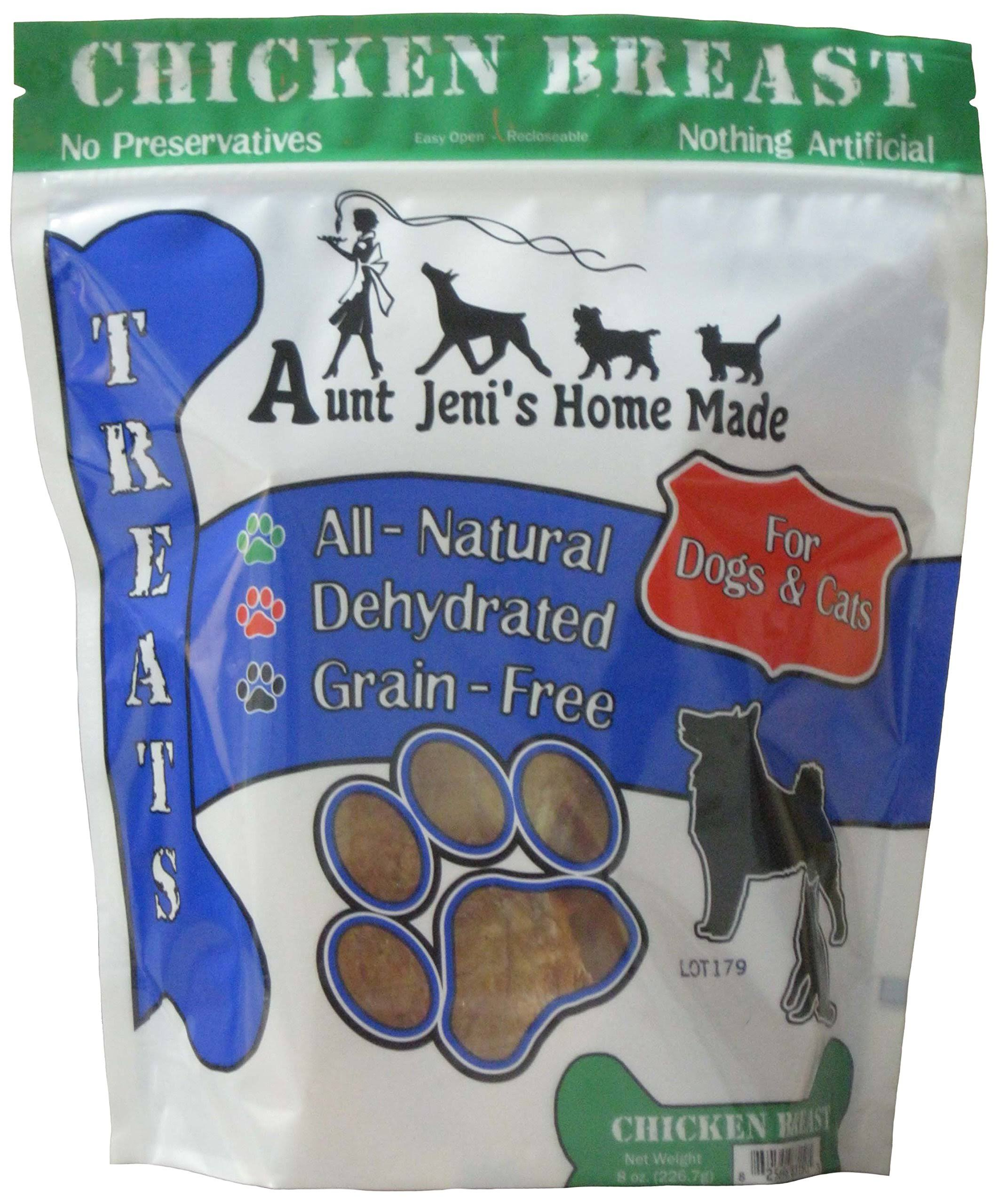 Aunt Jeni's Home Made Chicken Breast Pet Treats, 8 oz
