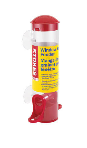 Stokes Select Window Seed Bird Feeder with Two Feeding Ports - Red