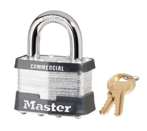 "Master Lock MSL5 Laminated Padlock - With 1"" Shackle"