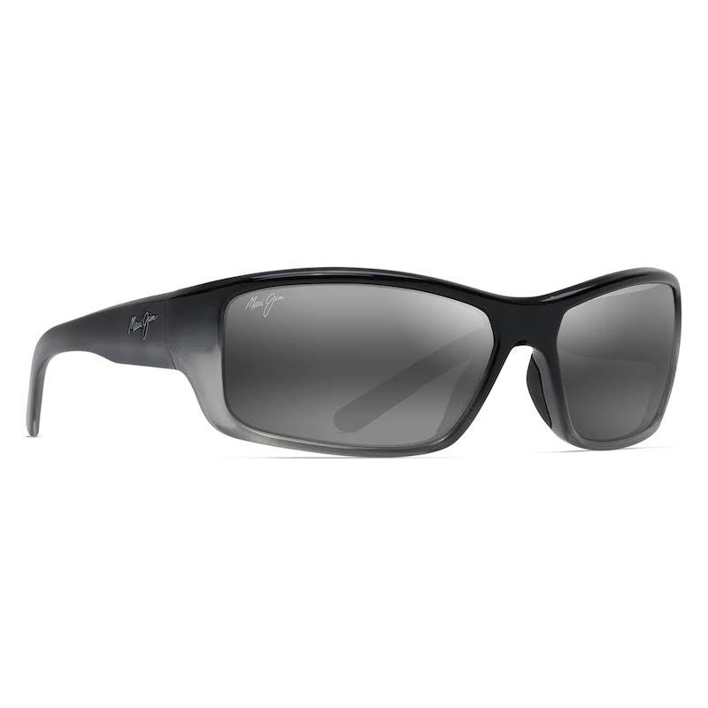 Maui Jim Barrier Reef Polarized Sunglasses - Black Silver/Neutral Grey