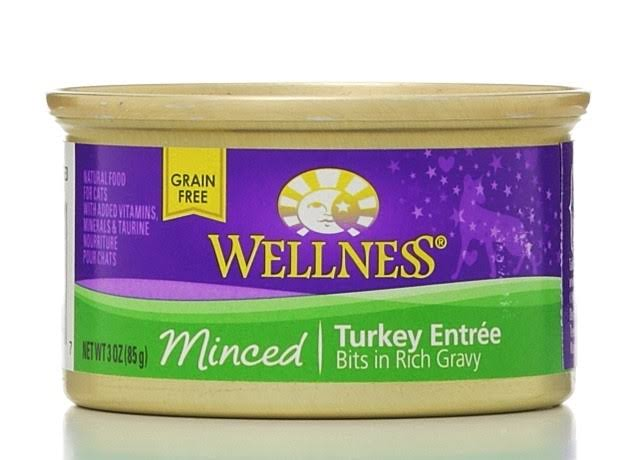 Wellness Natural Grain Free Wet Canned Cat Food - Minced Turkey Entree