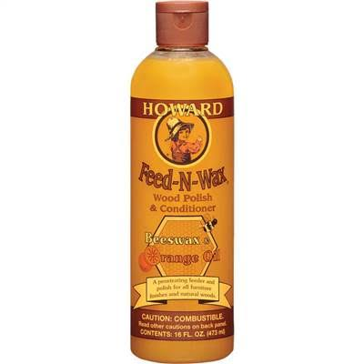 Howard FW0016 Feed-N-Wax Wood Polish and Conditioner - 16oz