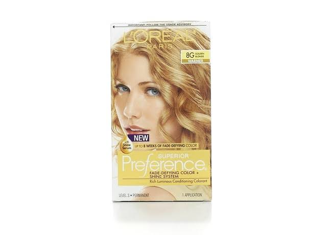 L'Oréal Paris Superior Preference Warmer Hair Color - 8G Golden Blonde