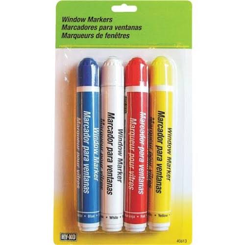 Hy-Ko Window Markers - 4 Pack
