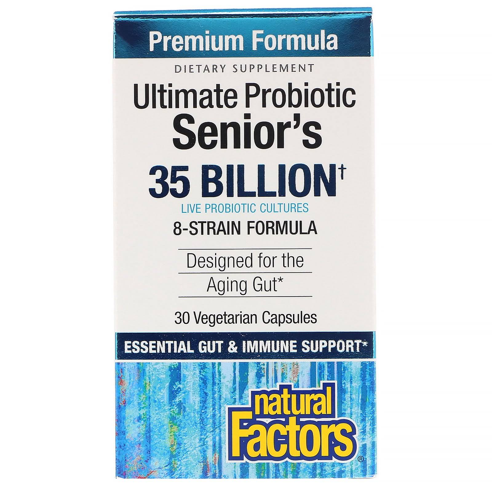 Natural Factors Senior's Multi Probiotic 8 Strain Formula - 30 capsules