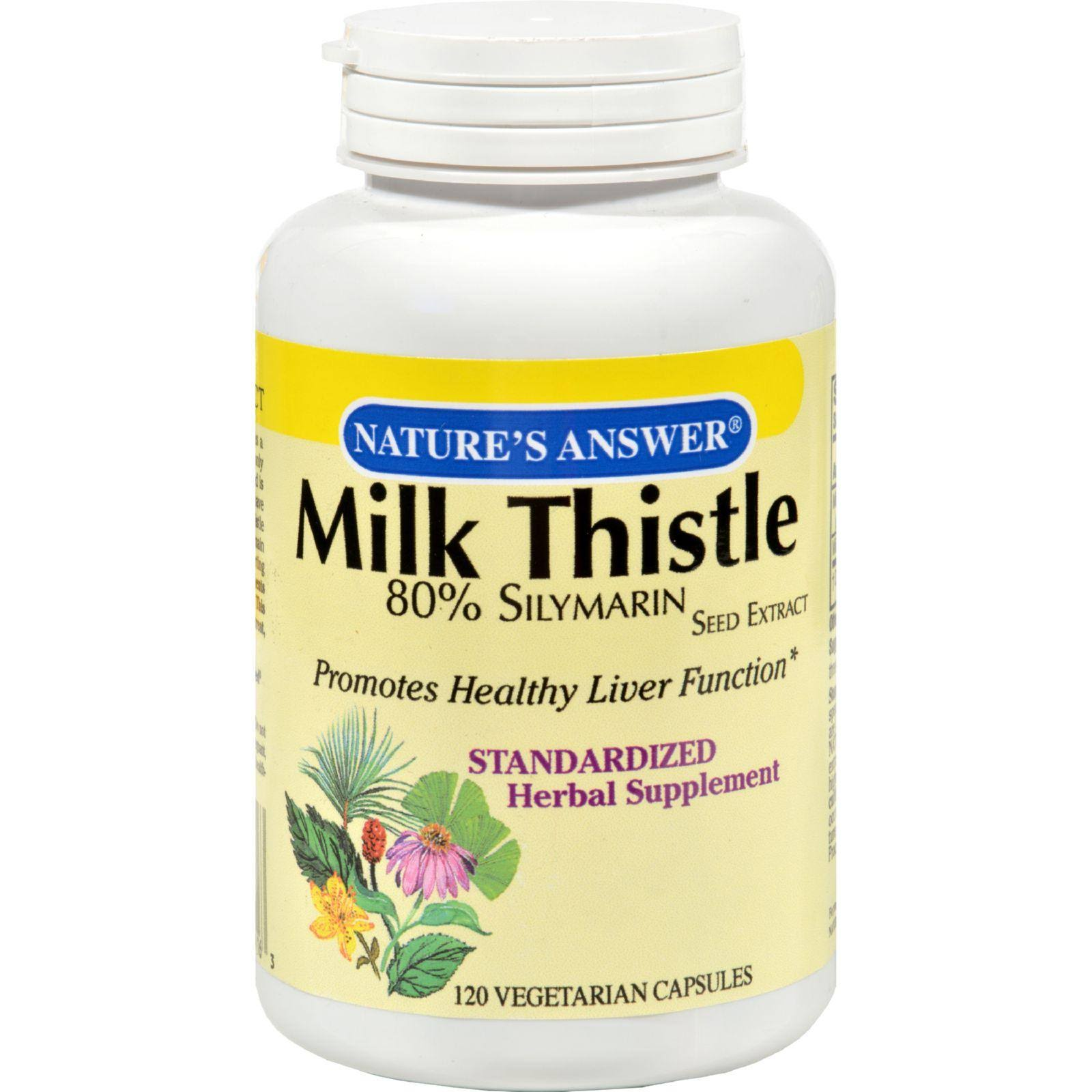 Nature S Answer Milk Thistle Seed Extract 120 Vegetarian Capsules