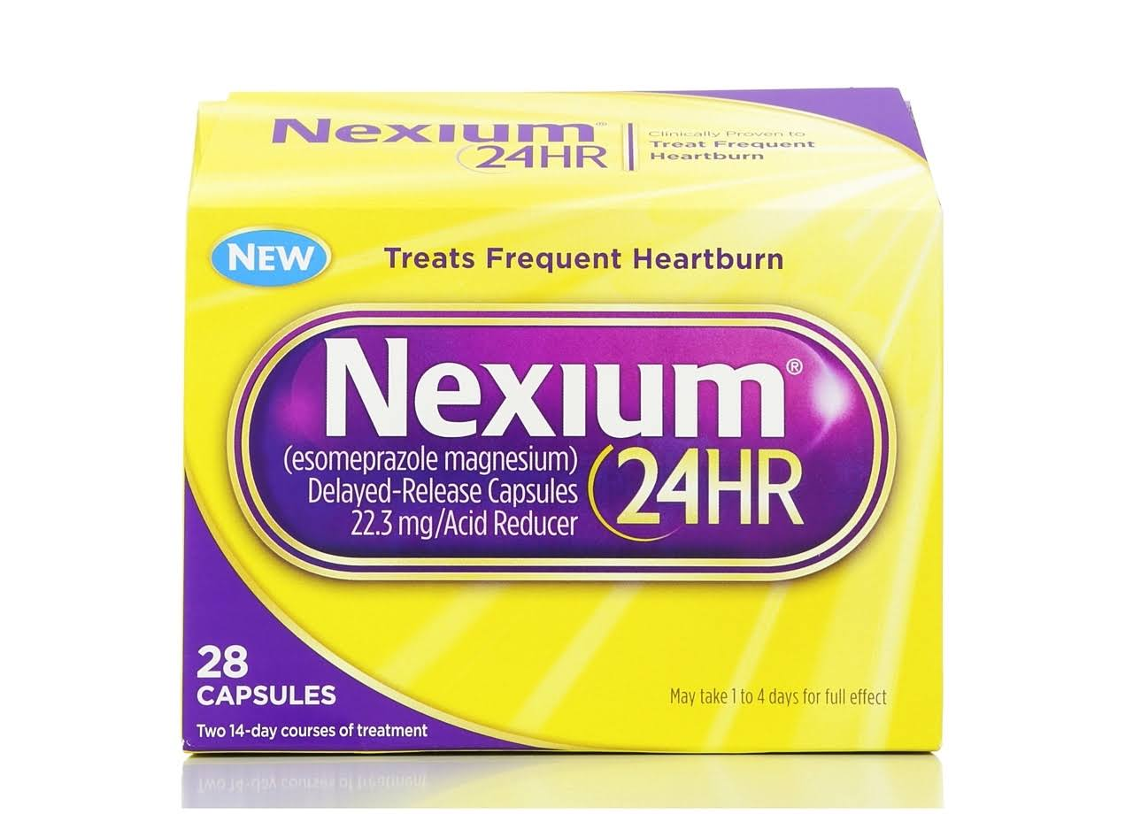 Nexium 24hr Treats Frequent Heartburn Relief - 28 Capsules