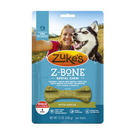 Zuke's Z-Bones Dental Chews - Clean Apple Crisp