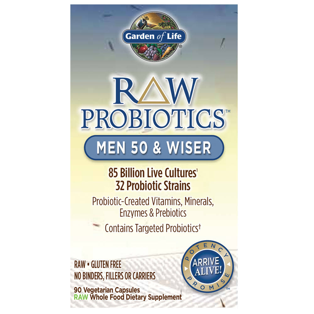 Garden of Life Raw Probiotics Men 50 & Wiser - 90 Capsules
