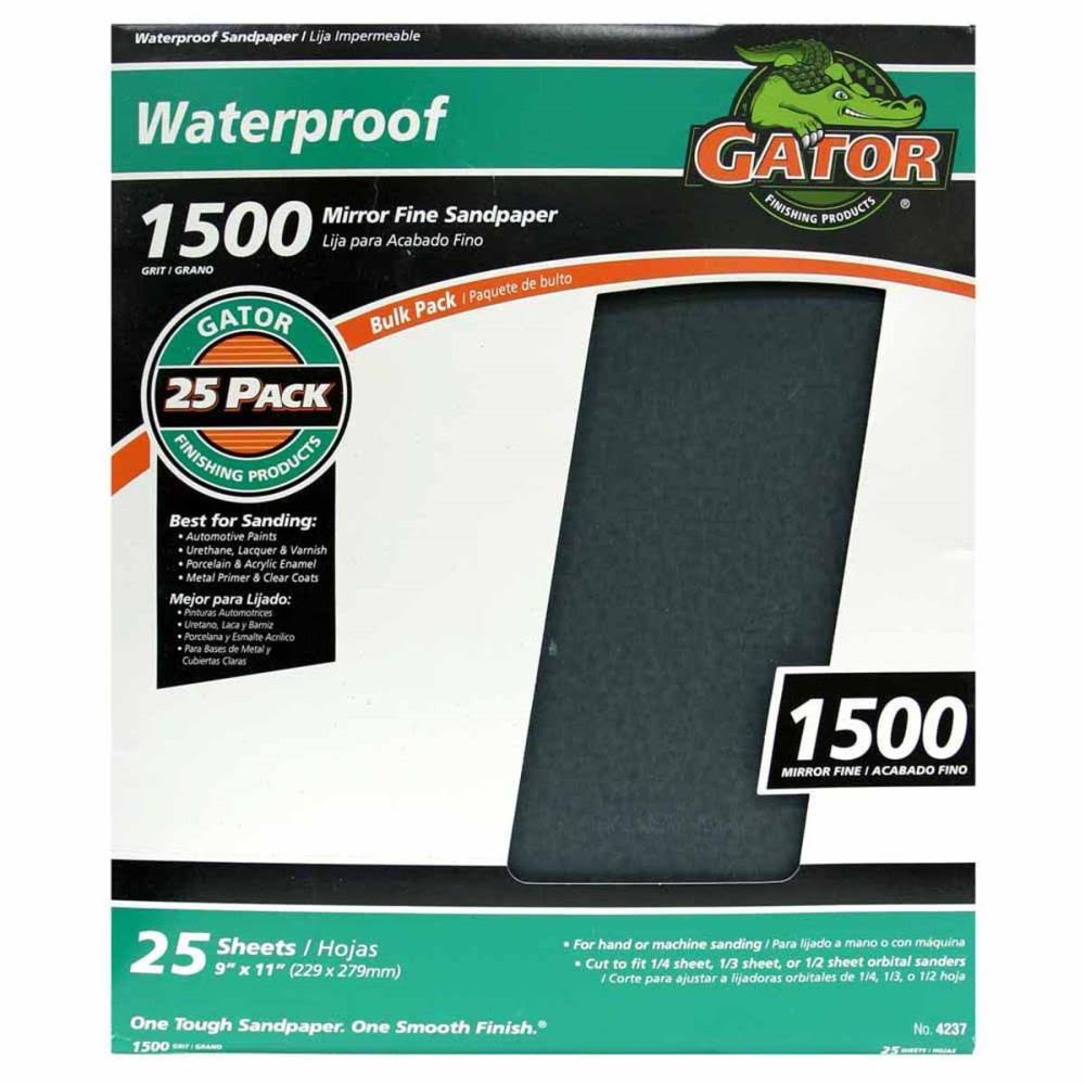 "Ali Industries Waterproof Sandpaper, 9"" x 11"""