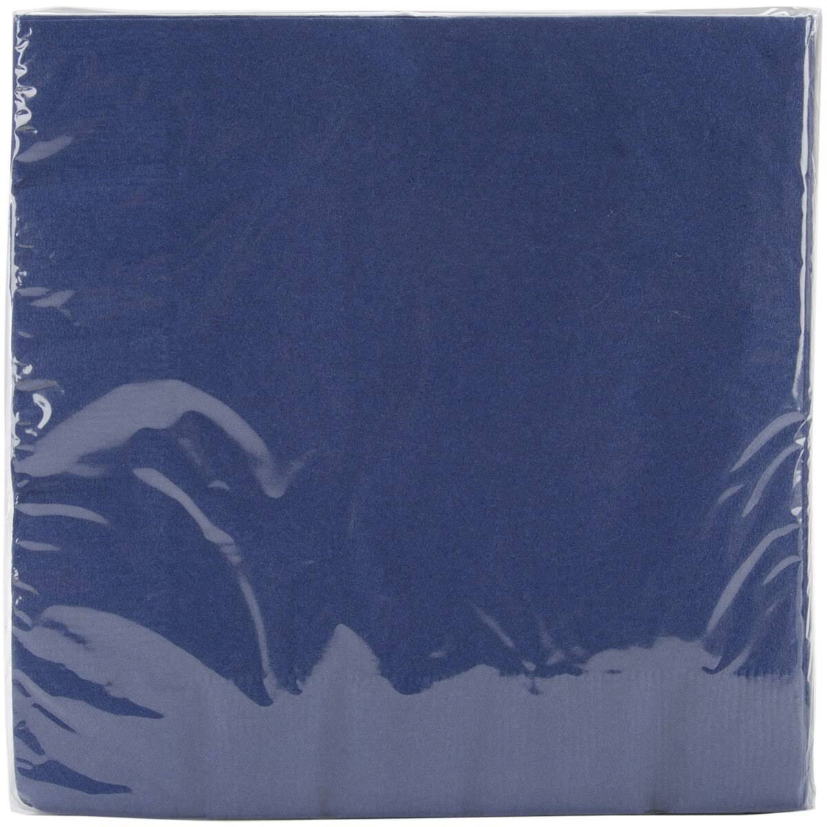"Creative Converting Luncheon Napkins - Navy, 6.5"" x 6.5"", 50pk"