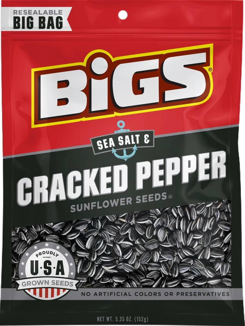 Bigs Sunflower Seeds - Sea Salt and Black Pepper, 152g