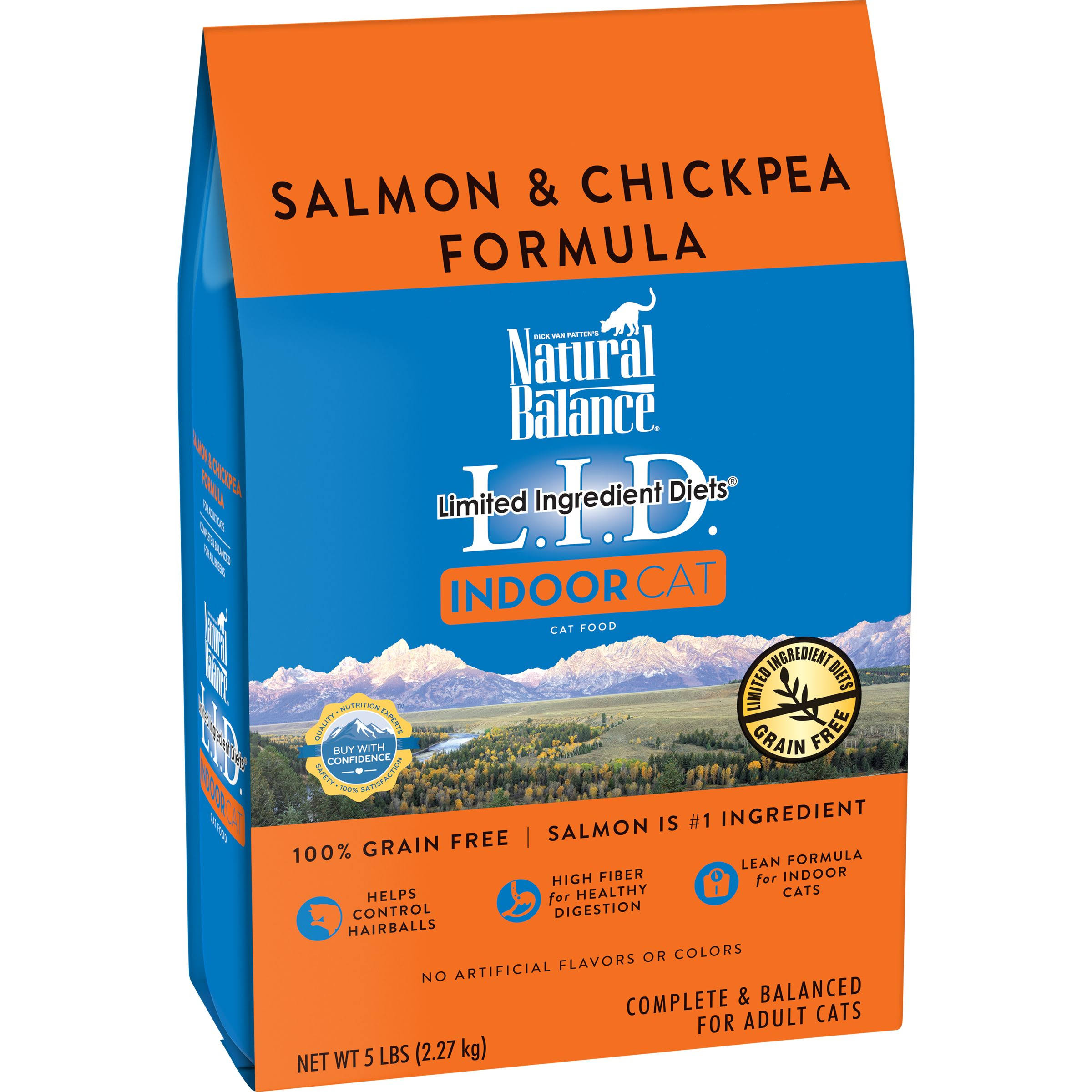 Natural Balance Limited Ingredient Diets Dry Cat Food - Salmon and Chickpea, 5lb