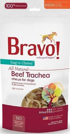Bravo All Natural Pet Chews - Beef Trachea