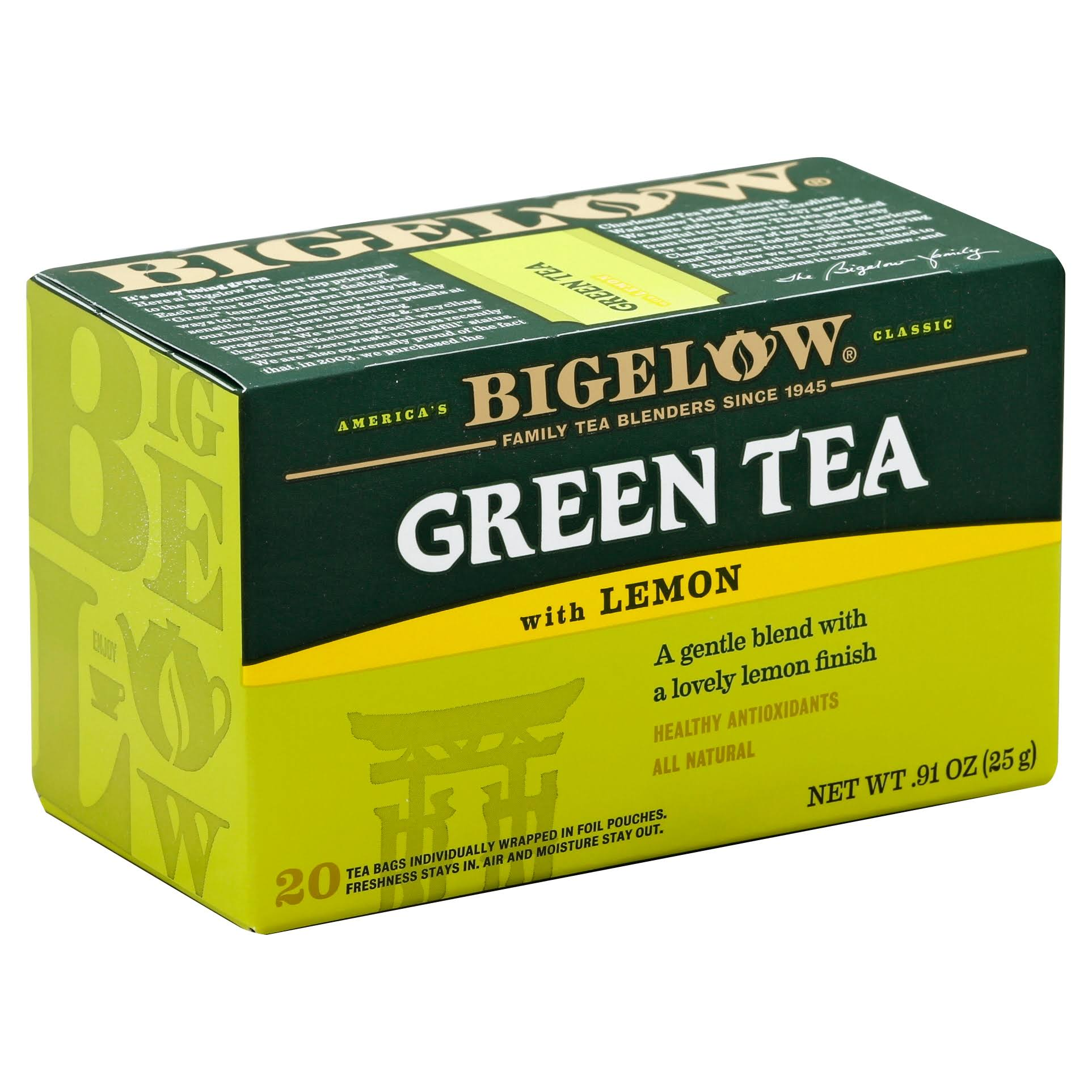 Bigelow Green Tea with Lemon Tea Bags - 0.91oz, x20