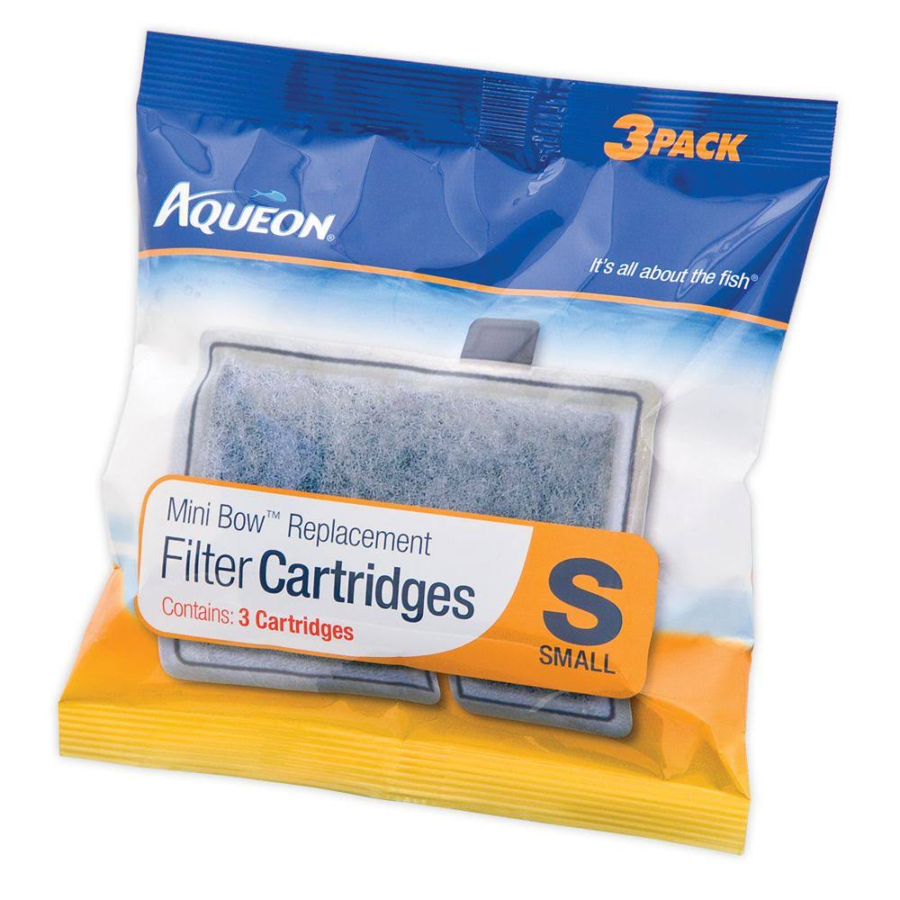 Aqueon Mini Bow Replacement Filter Cartridge - Small, 3 Pack