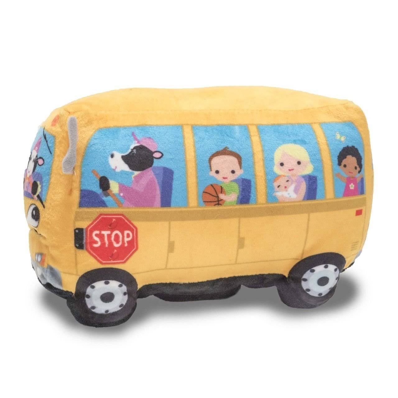 Cuddle Barn Animated Toy Wheelie School Bus - Singing Wheels on the Bus