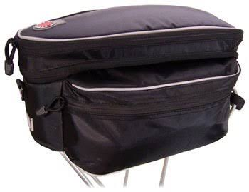 Banjo Brothers Expanding Rack Top Bag - Black