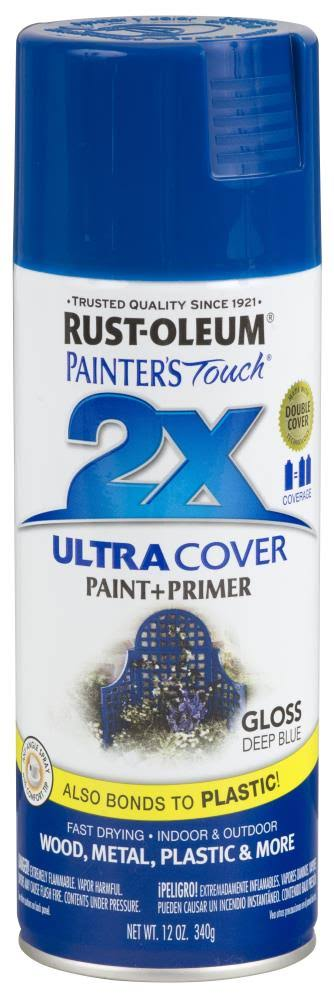 Rust-Oleum 249114 Painter's Touch Multi-Purpose Spray Paint - Gloss Deep Blue, 12oz