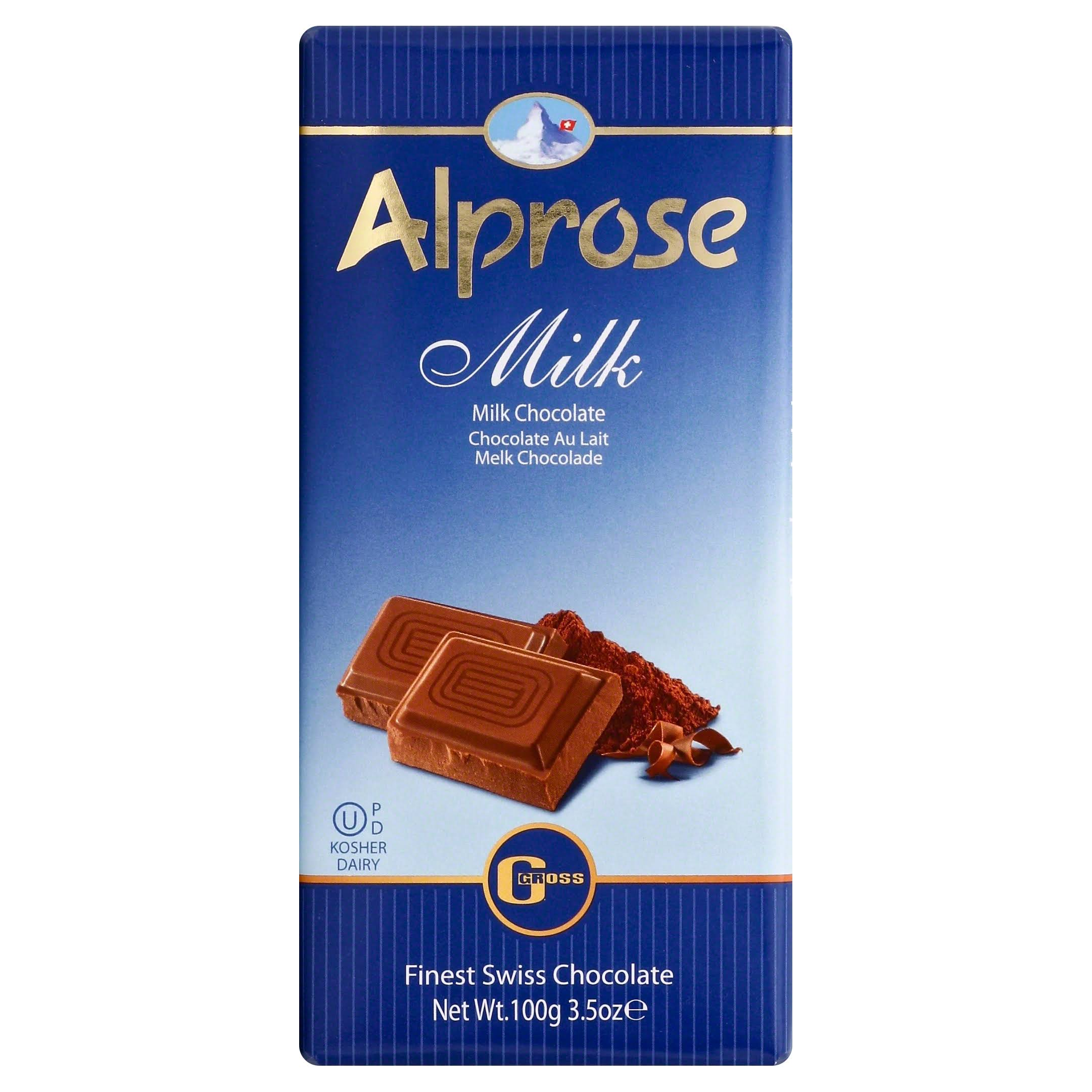 Alprose Milk Chocolate Bar - 100g