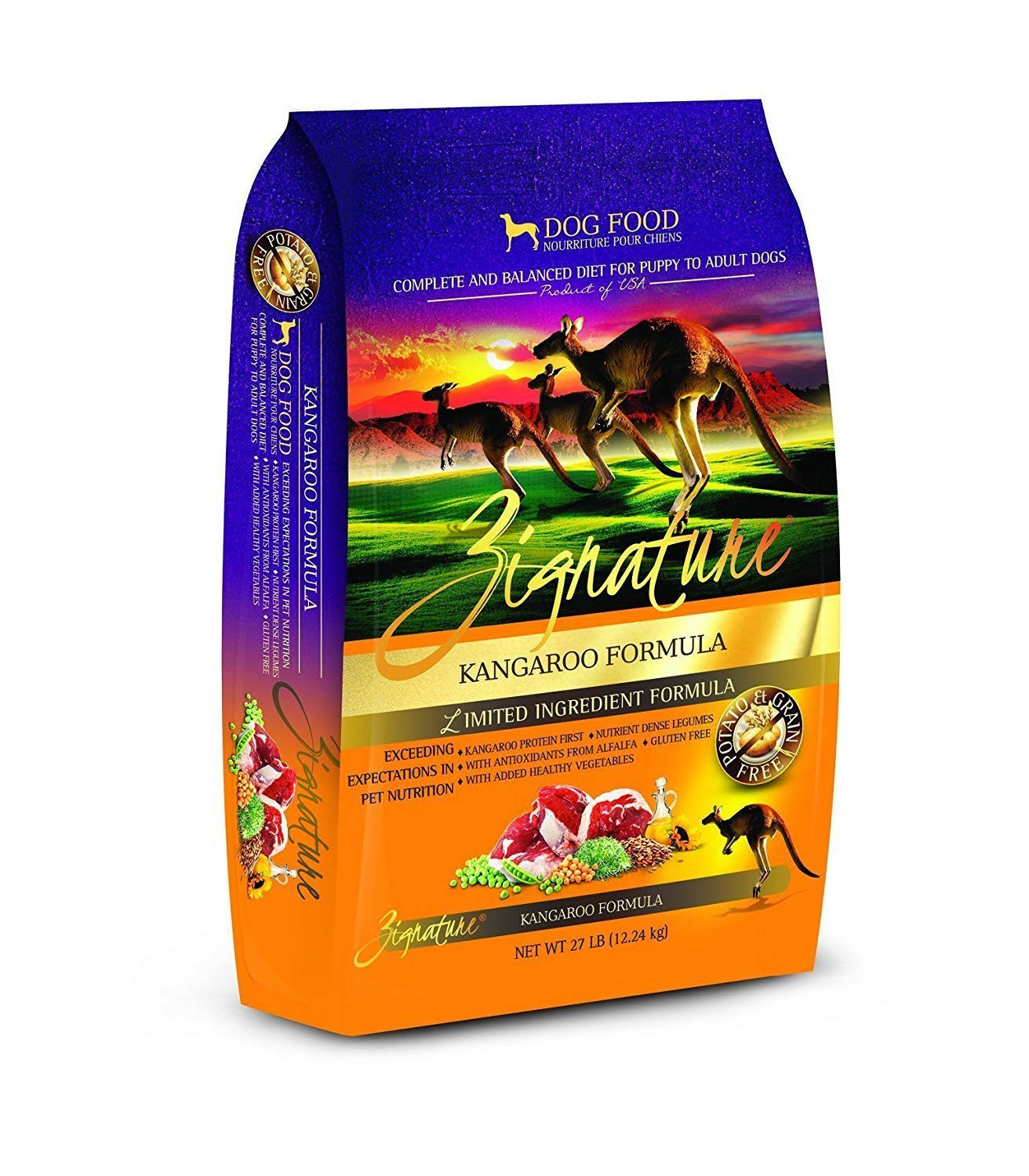 Zignature Kangaroo Formula Dry Dog Food 27 lbs