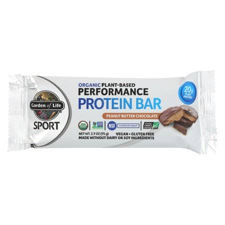 Sport Organic Plant Based Performance Protein Bar - Peanut Chocolate Butter, 2.7oz