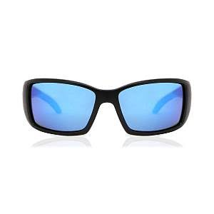 Costa Del Mar Blackfin Polarized Sunglasses - Matte Black Frame & Blue Mirror Lens