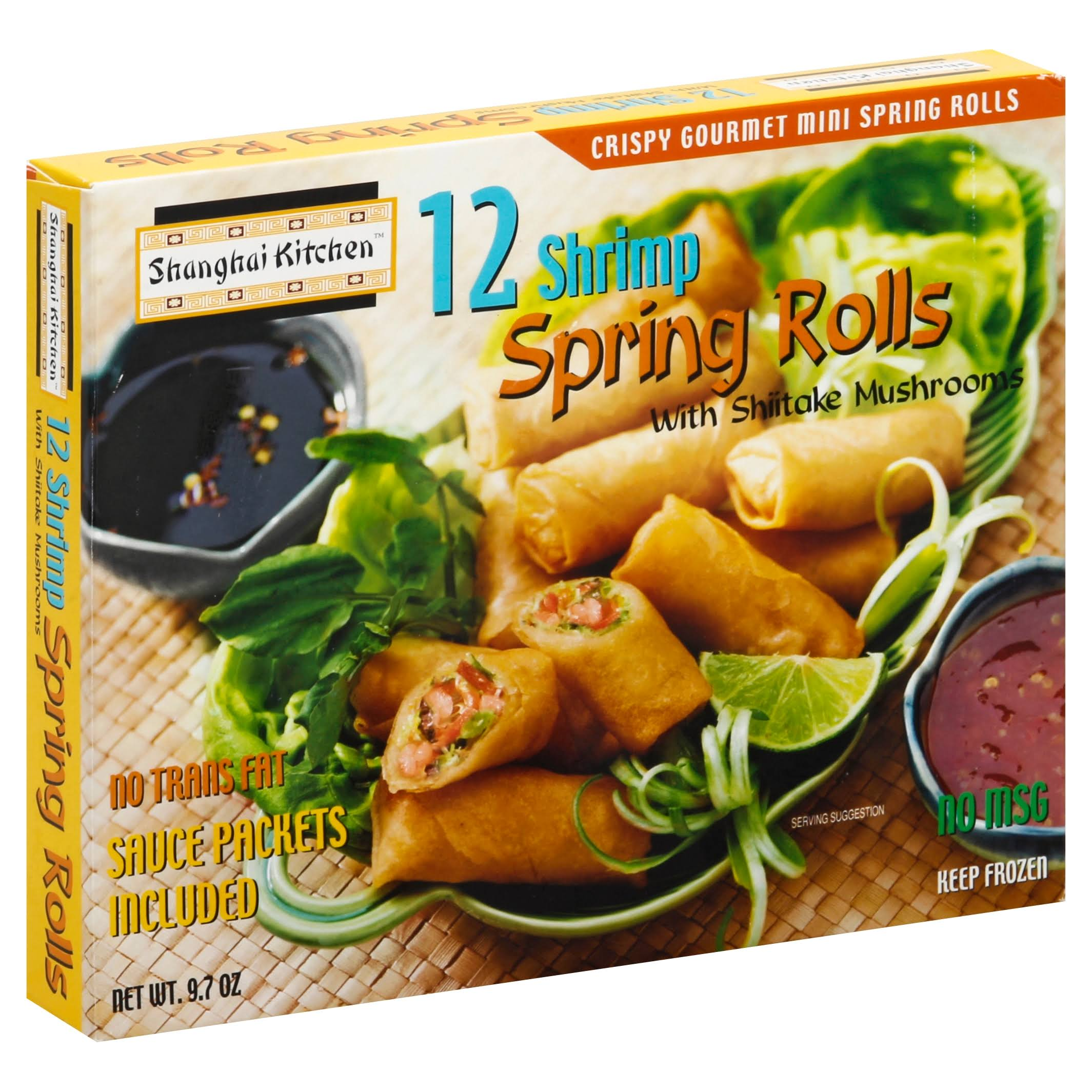 Shanghai Kitchen Spring Rolls, Mini, Shrimp - 12 spring rolls [9.7 oz]