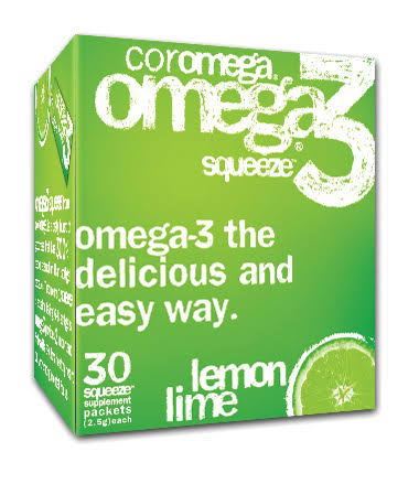 Coromega Omega 3 Supplement - Lemon Lime, 90 Packets