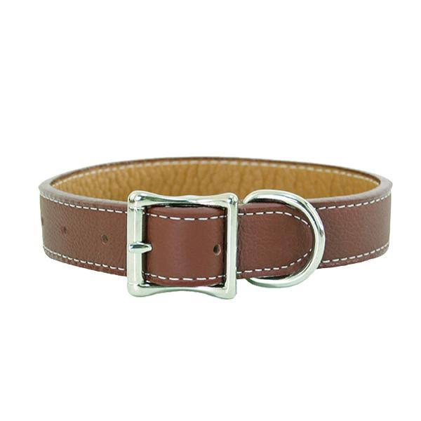 "Auburn Leathercrafters Tuscany Dog Collar-Brown-14""-18"""