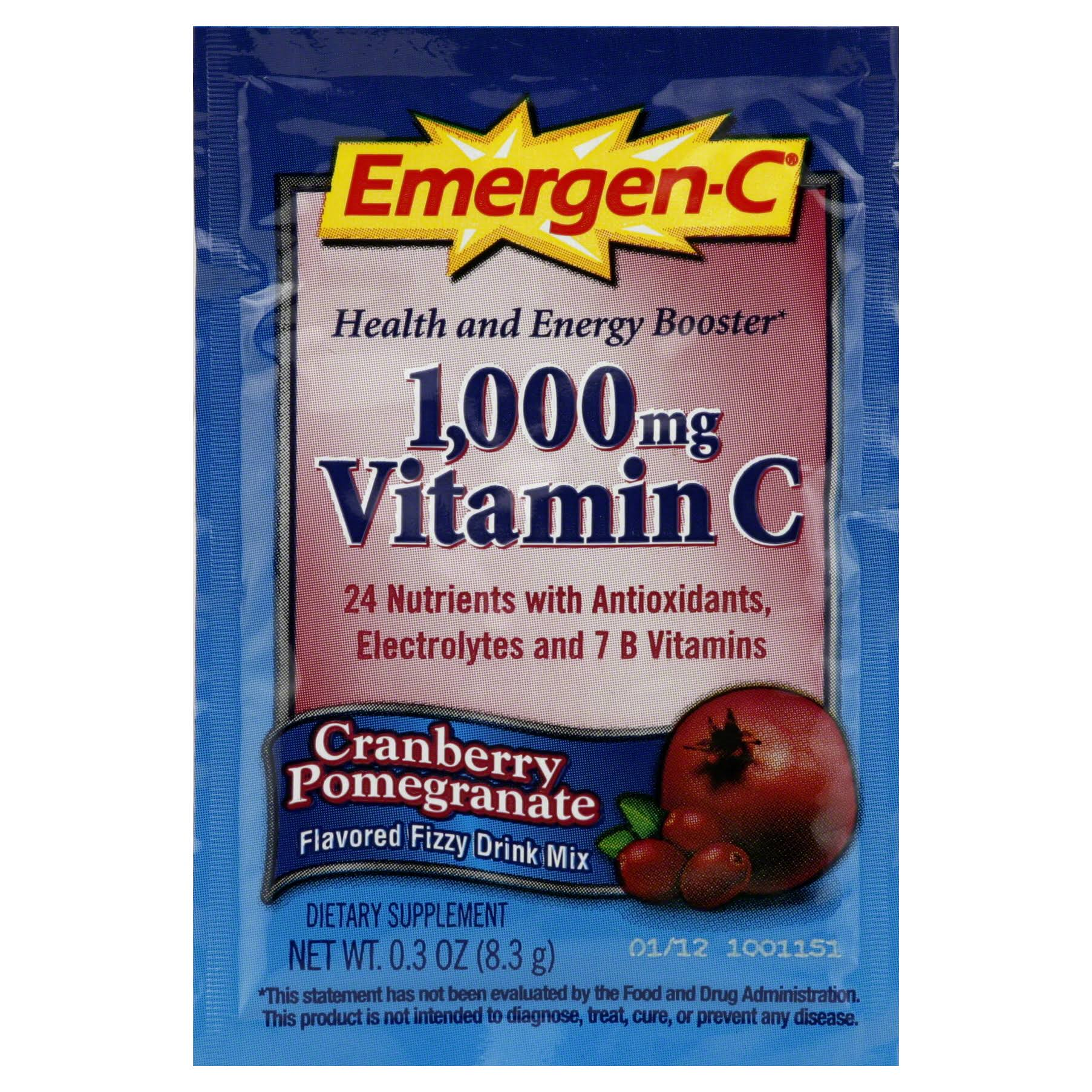 Emergen-C Energy Booster - Cranberry & Pomegranate