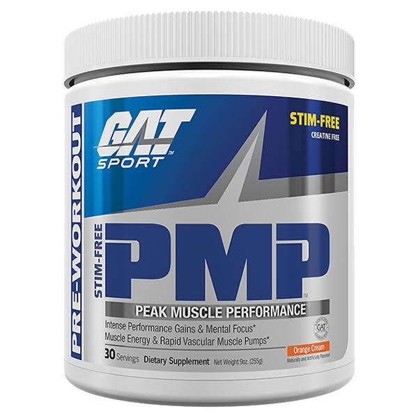 GAT PMP Stim-Free Peak Muscle Performance - Orange Cream, 30 Servings