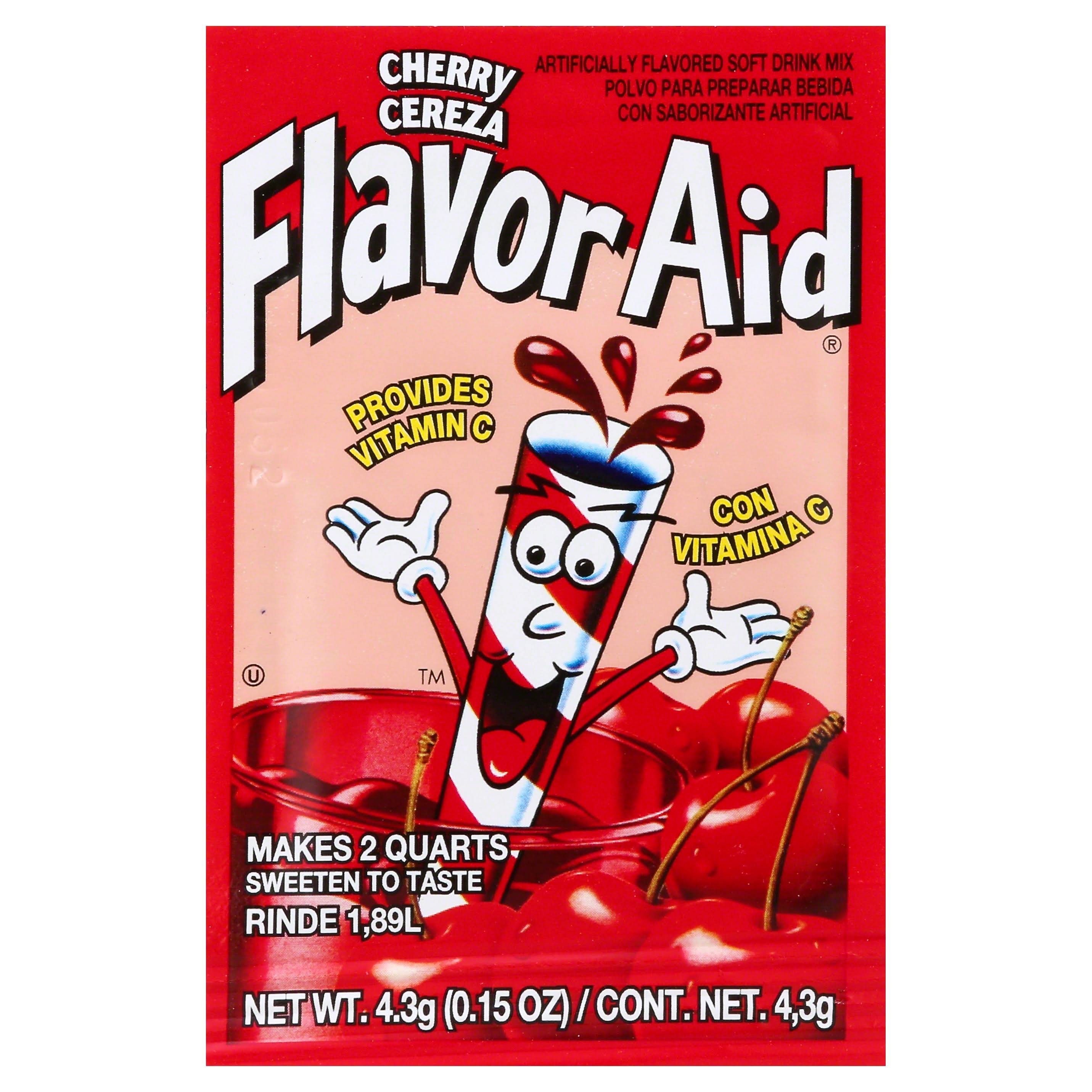 Flavor Aid Soft Drink Mix, Cherry - 0.15 oz
