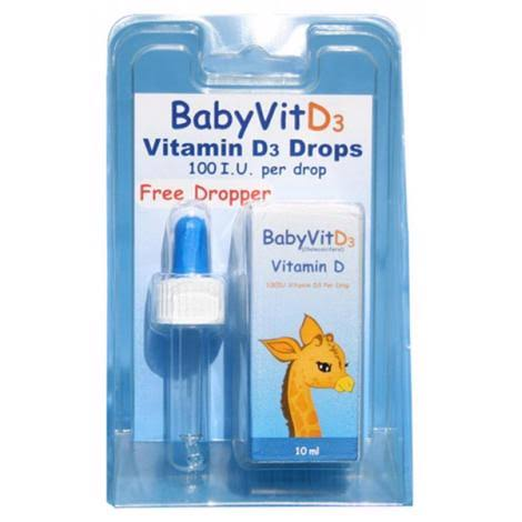 BabyVitD3 5µg Vitamin D3 Drops Food Supplement - 10.7ml