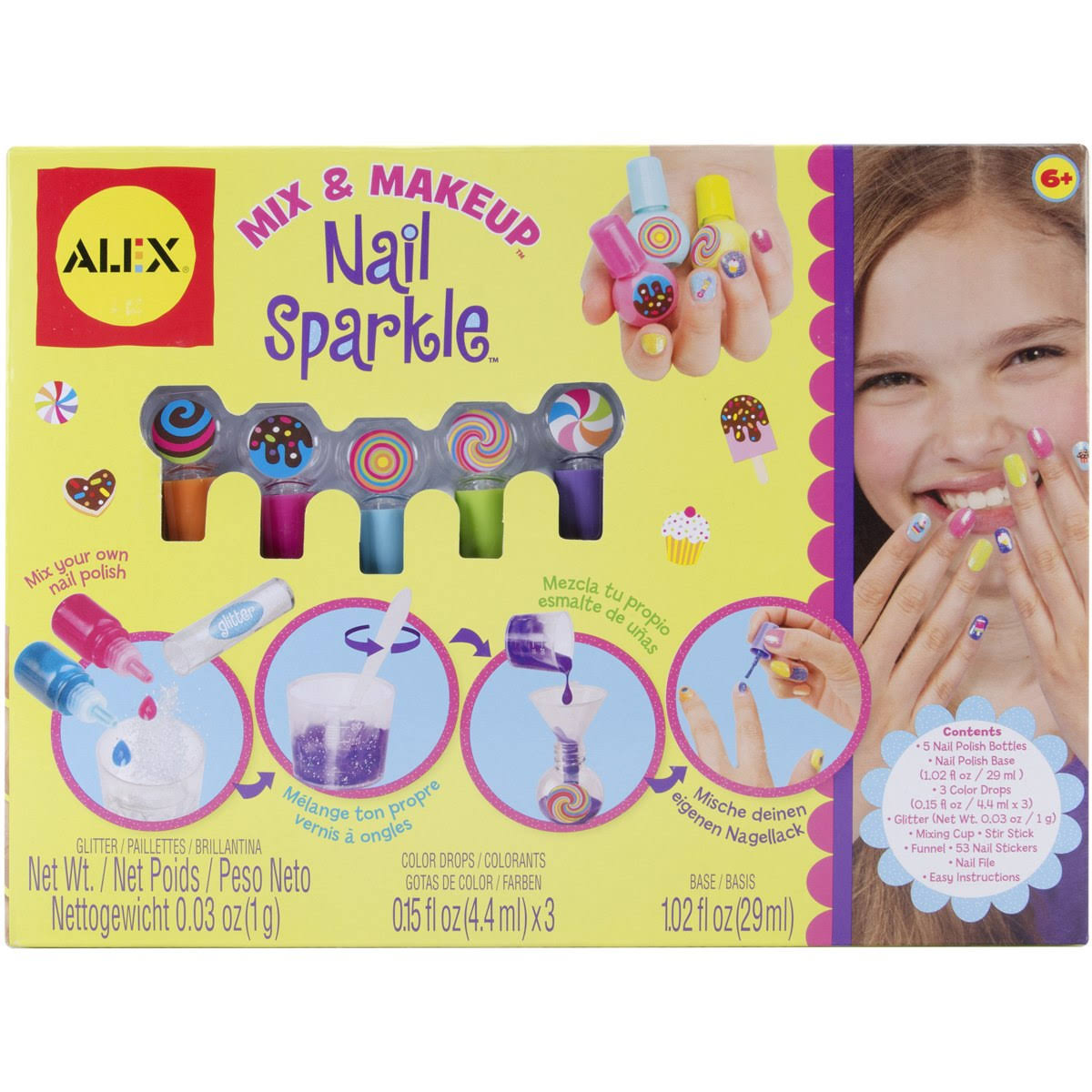 Alex Toys Spa Mix & Make Up Nail Sparkle Kit