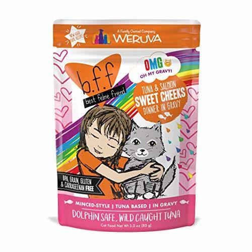 Weruva Best Feline Friend Adult Cat Food - Tuna & Salmon Sweet Cheeks, 8.5g