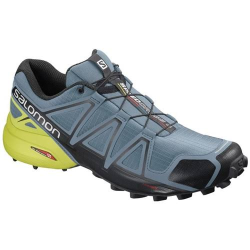 Salomon Men's Speedcross 4 Trail-Running Shoes Blue 10