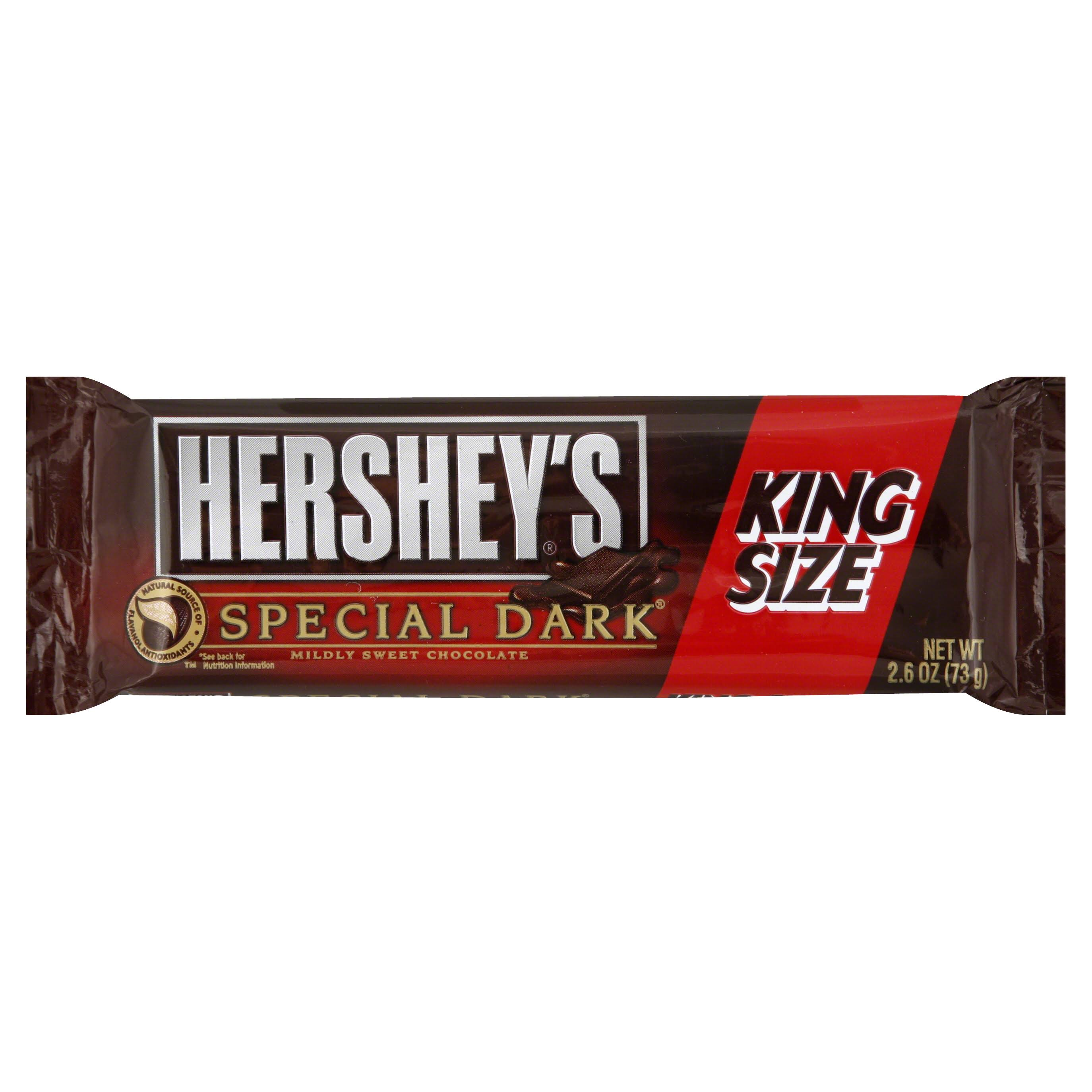 Hersheys Special Dark Chocolate Bars, King Size - 2.6 oz