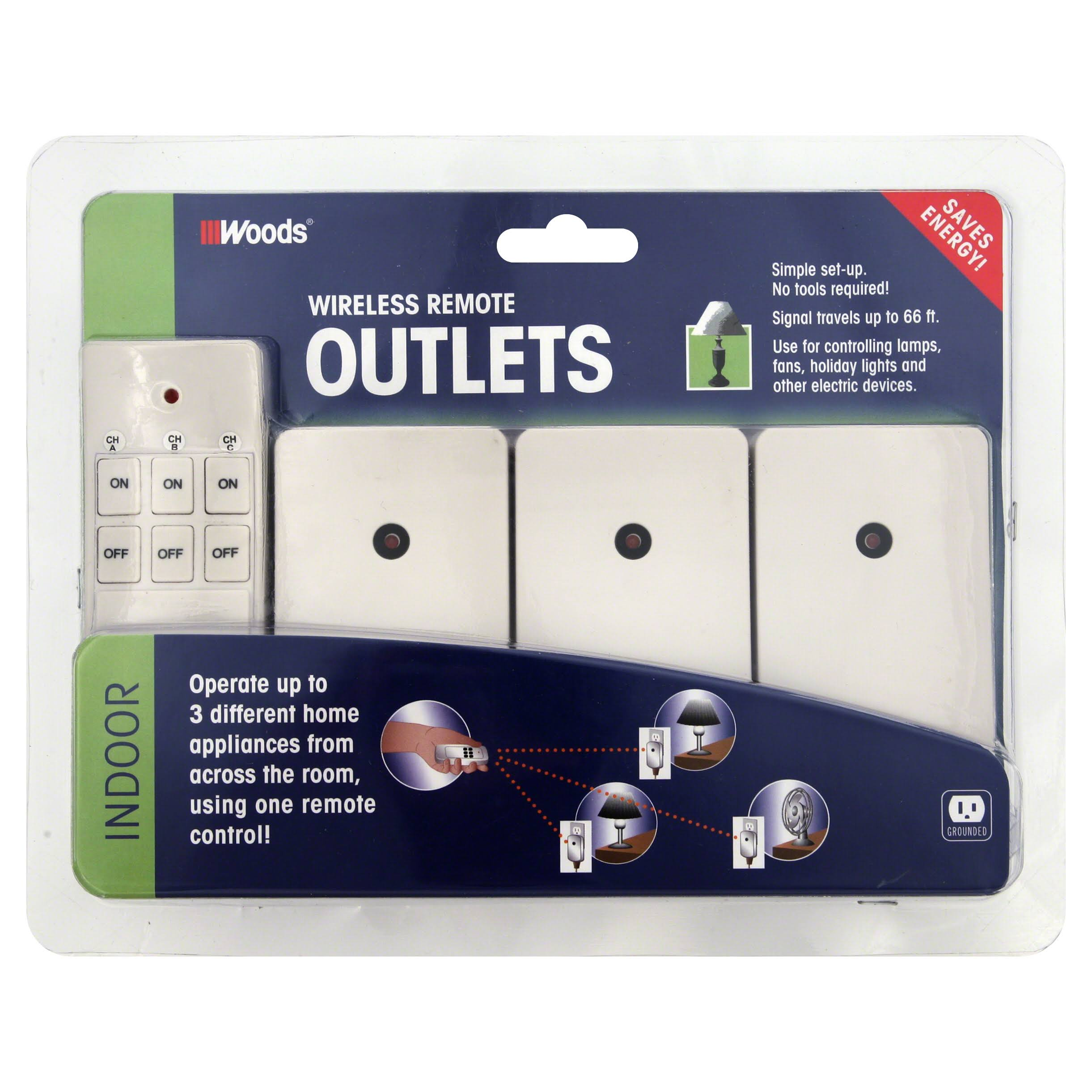Coleman Cable Indoor Outlet Remote with 3 Receivers - White