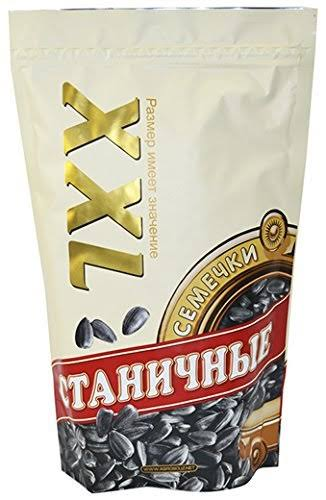 Stanichnye XXL Sunflower Seeds 14 Ounce (400 gram). Roasted Unsalted. Imported from Russia. Kosher