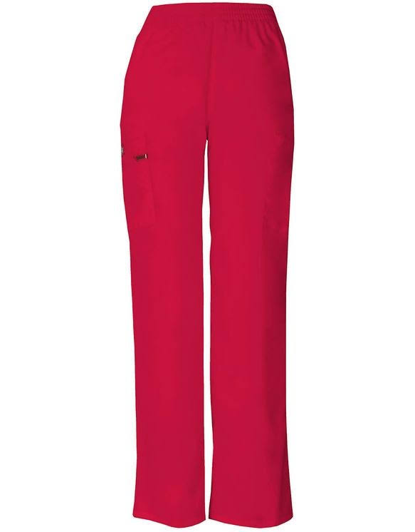 Dickies Missy Fit Natural Rise Pull-on Pant Scrub Bottoms - Red, 2X-Large