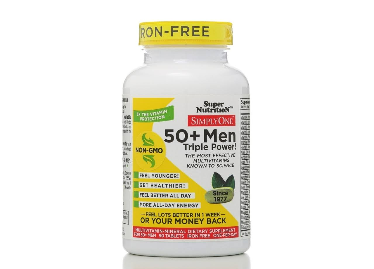 Super Nutrition Simply One 50+ Men (Iron Free) 90 vtabs