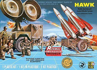 Renwal 1:32 Scale Hawk Missile Plastic Model Kit