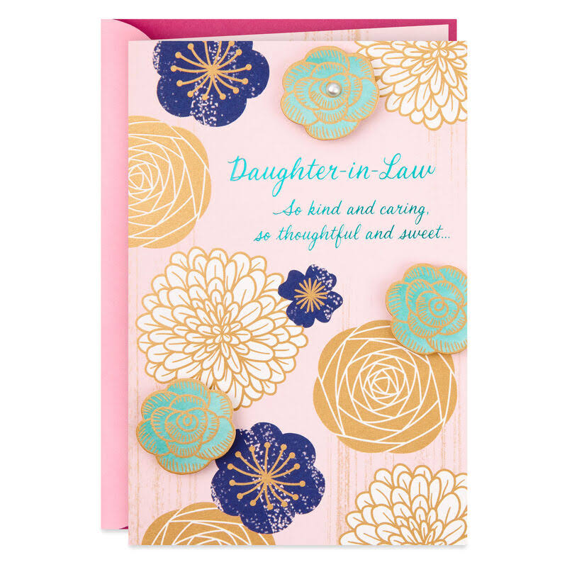 Daughter-In-Law Pink Floral Mother's Day Card