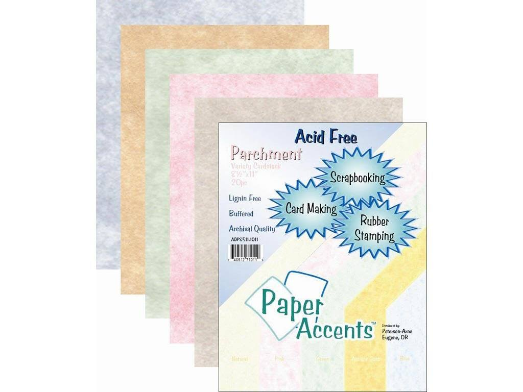 Paper Accents Variety Pack 8.5x11 20pc Parchment