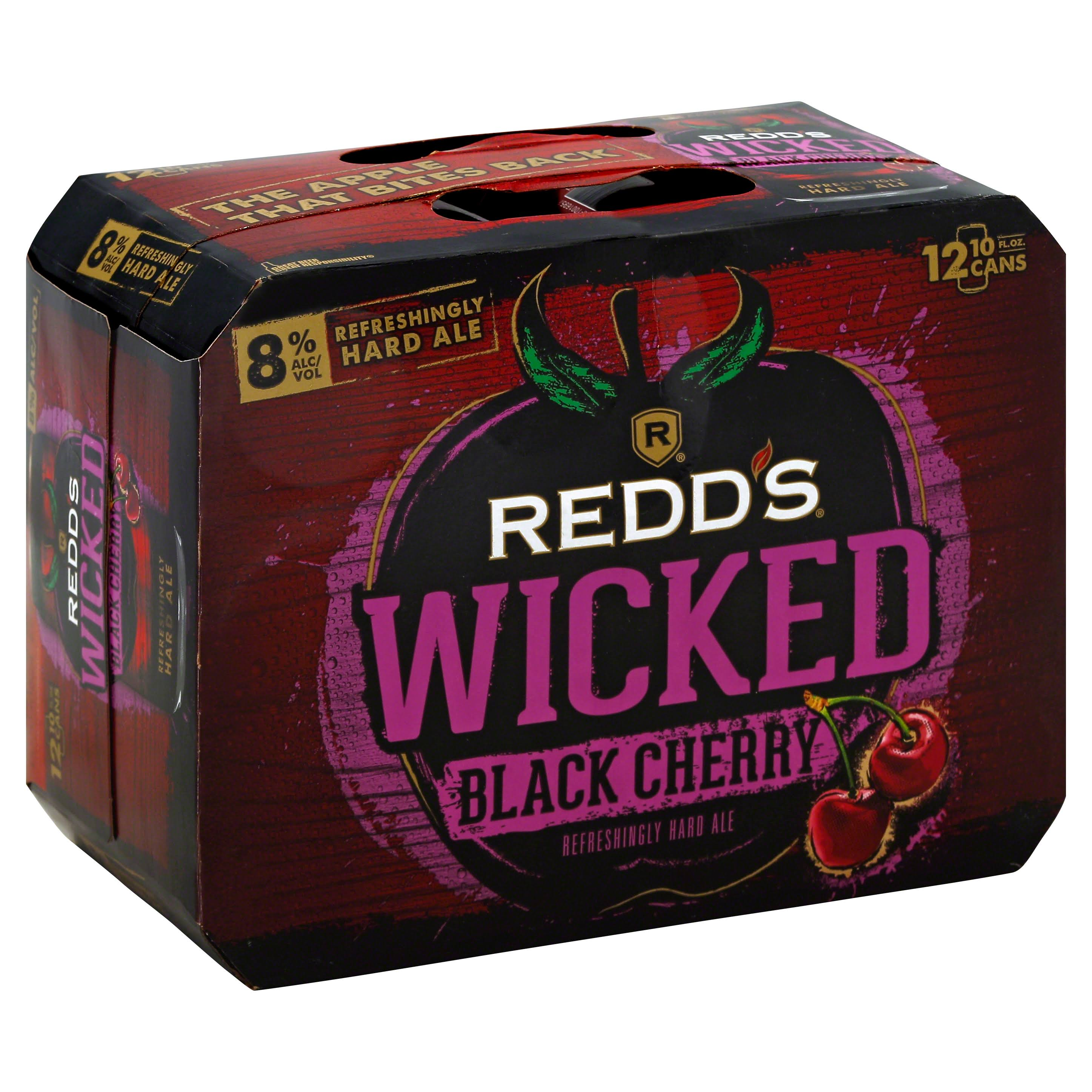 Redd's Wicked Black Cherry Hard Ale - 12 Cans