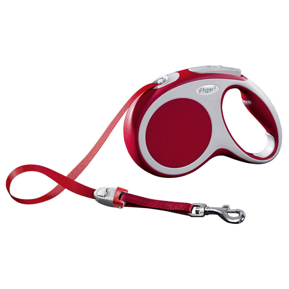 Flexi Vario Tape Retractable Dog Leash - Red, Medium, 16ft