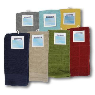 "ABW 15"" x 25"" Assorted Style Cotton Cleaning Cloth 3-Pack"